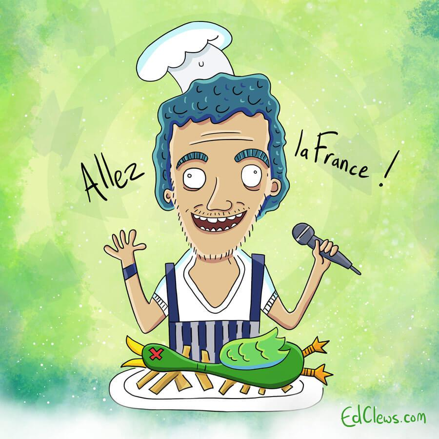 Amir, the French entry - Eurovision 2016 illustrations