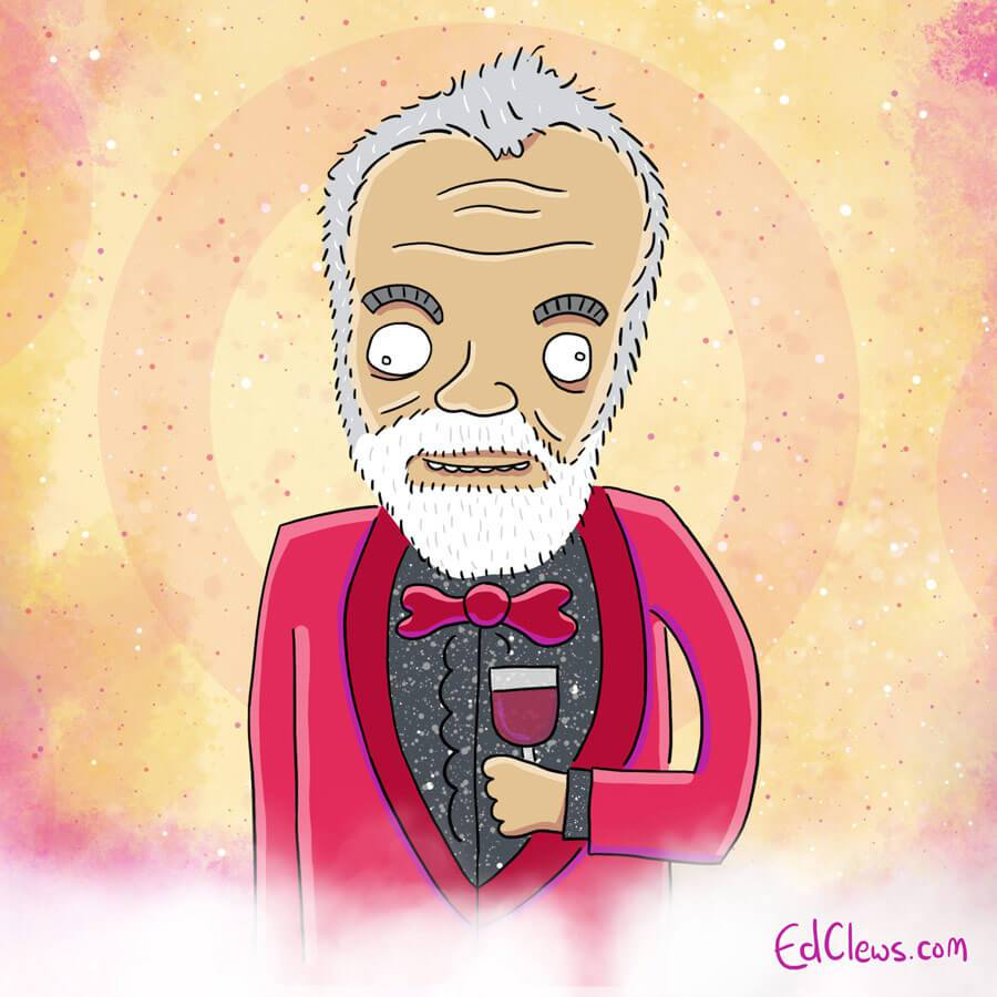 Graham Norton, the UK presenter - Eurovision 2016 illustrations