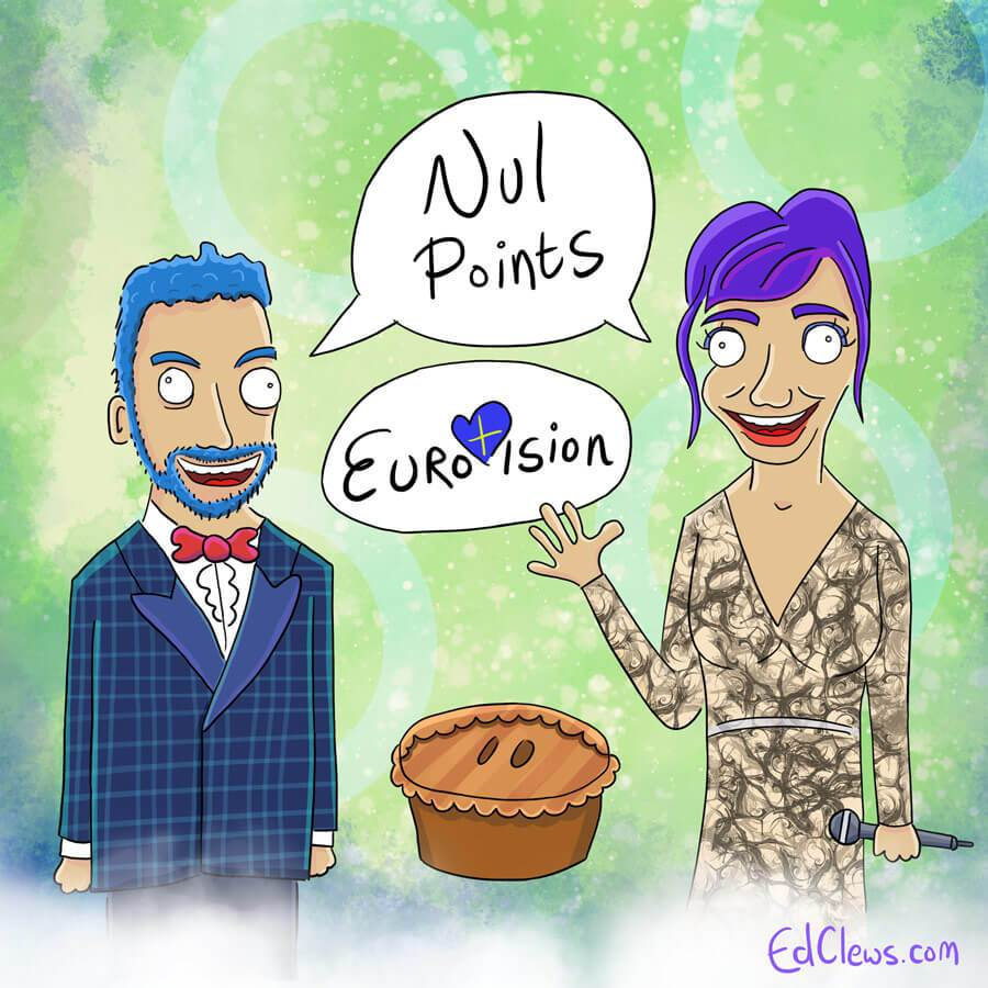 Mans Zemerlow and Petra Mede - Eurovision 2016 illustrations