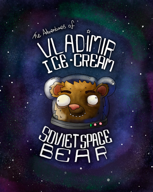 Vladimir Ice-cream: Soviet Space Bear illustration