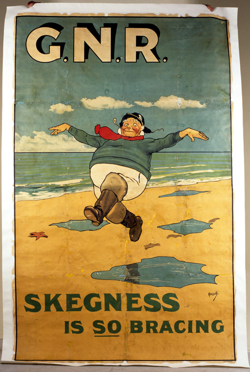 original 1922 Skegness is so bracing poster by John Hassall